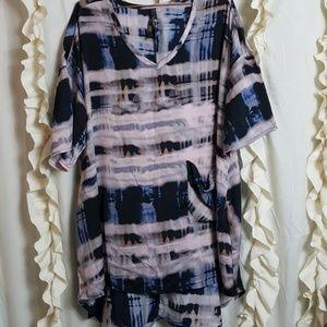 Melissa McCarthy Seven tie dye tunic shirt top